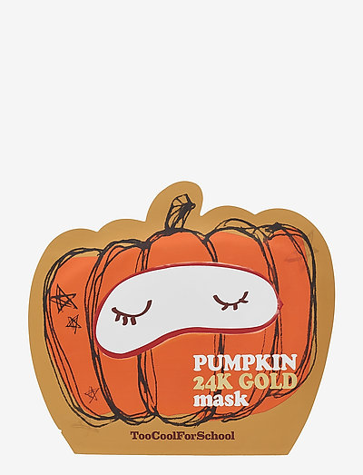 Too Cool For School Pumpkin 24K Gold Mask - CLEAR