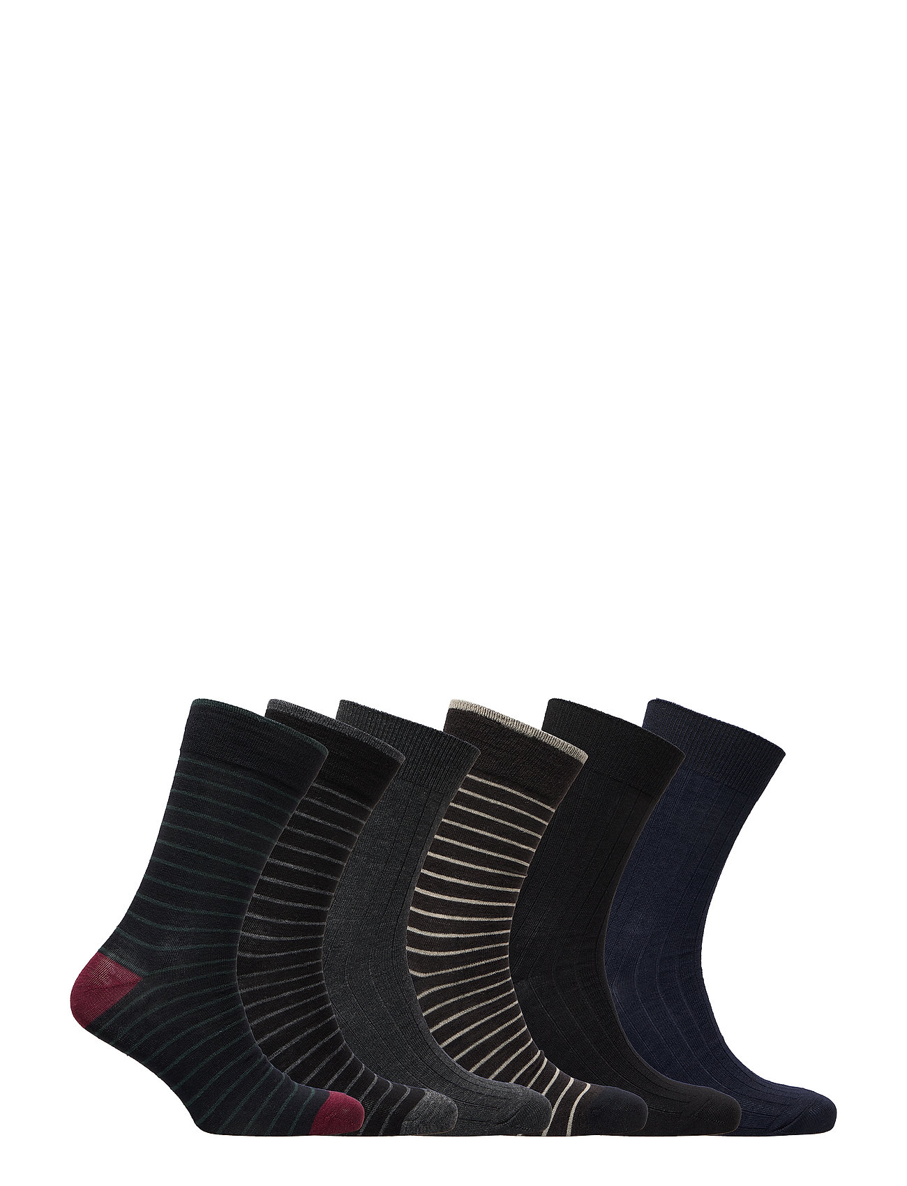 TOPECO SOCKS 6-P WOOL - MULTI COLOR