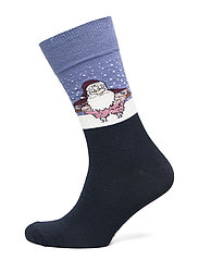 SOCK CHRISTMAS TIME - NAVY SANTA