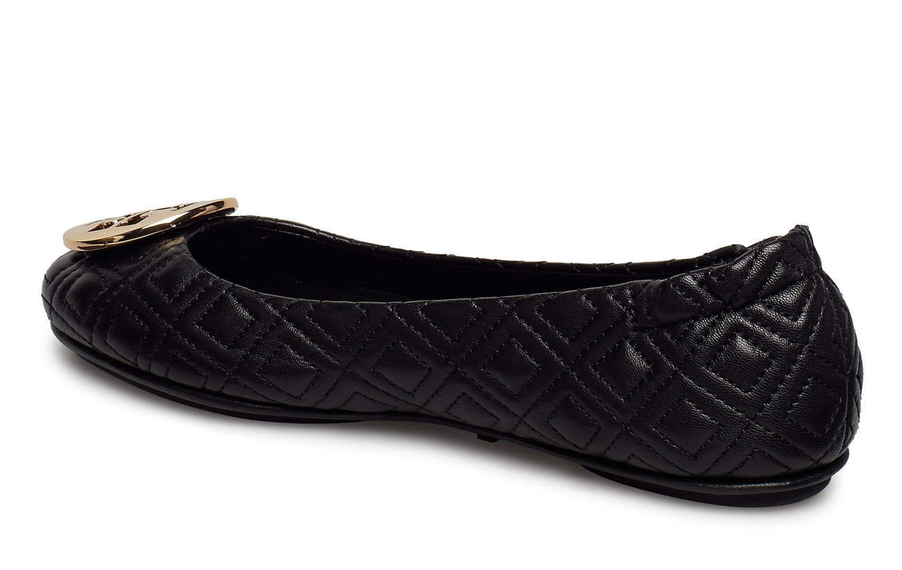 Tory Burch QUILTED MINNIE - PERFECT BLACK / GOLD