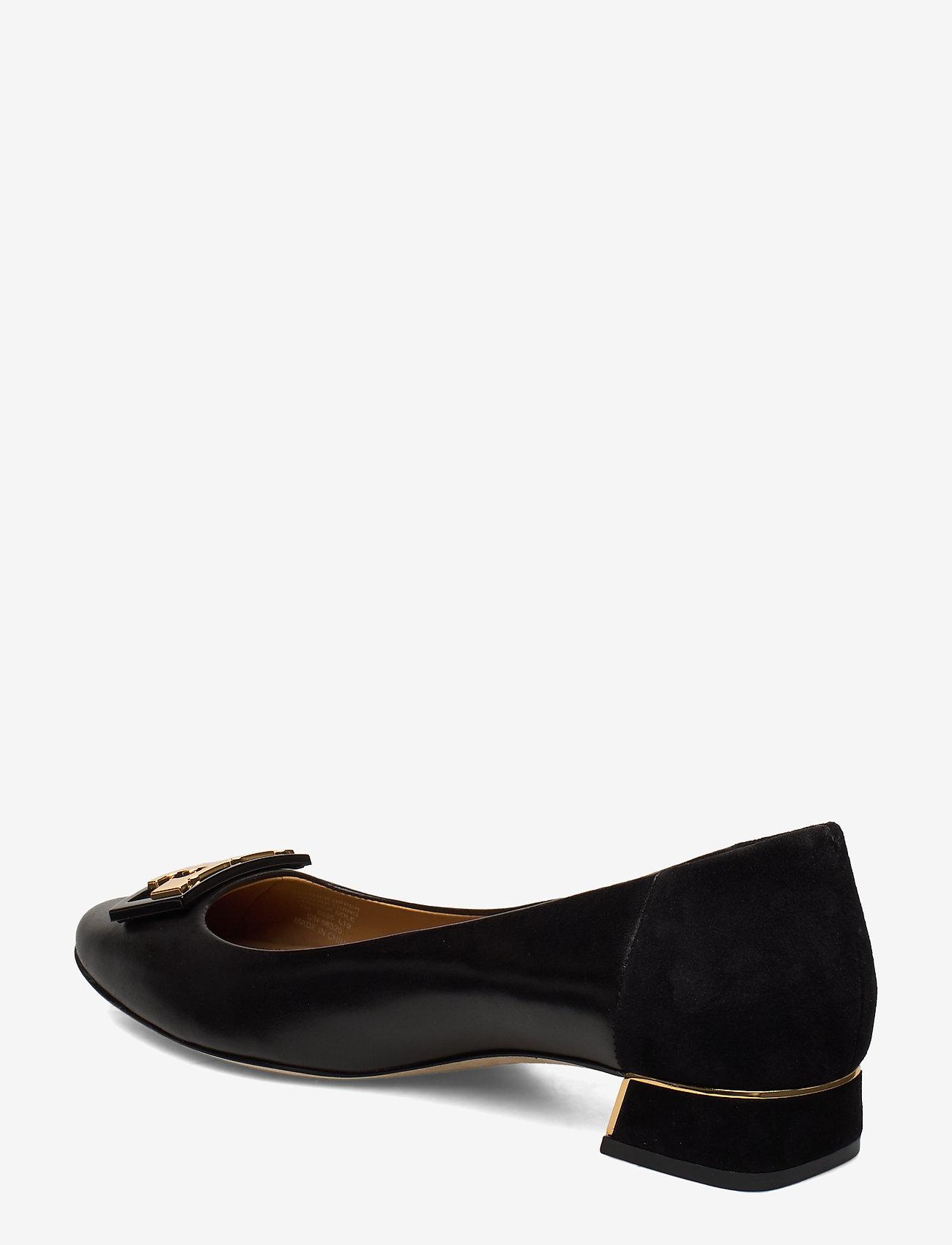 Gigi 20mm Round Toe Flat (Perfect Black / Perfect Black) - Tory Burch