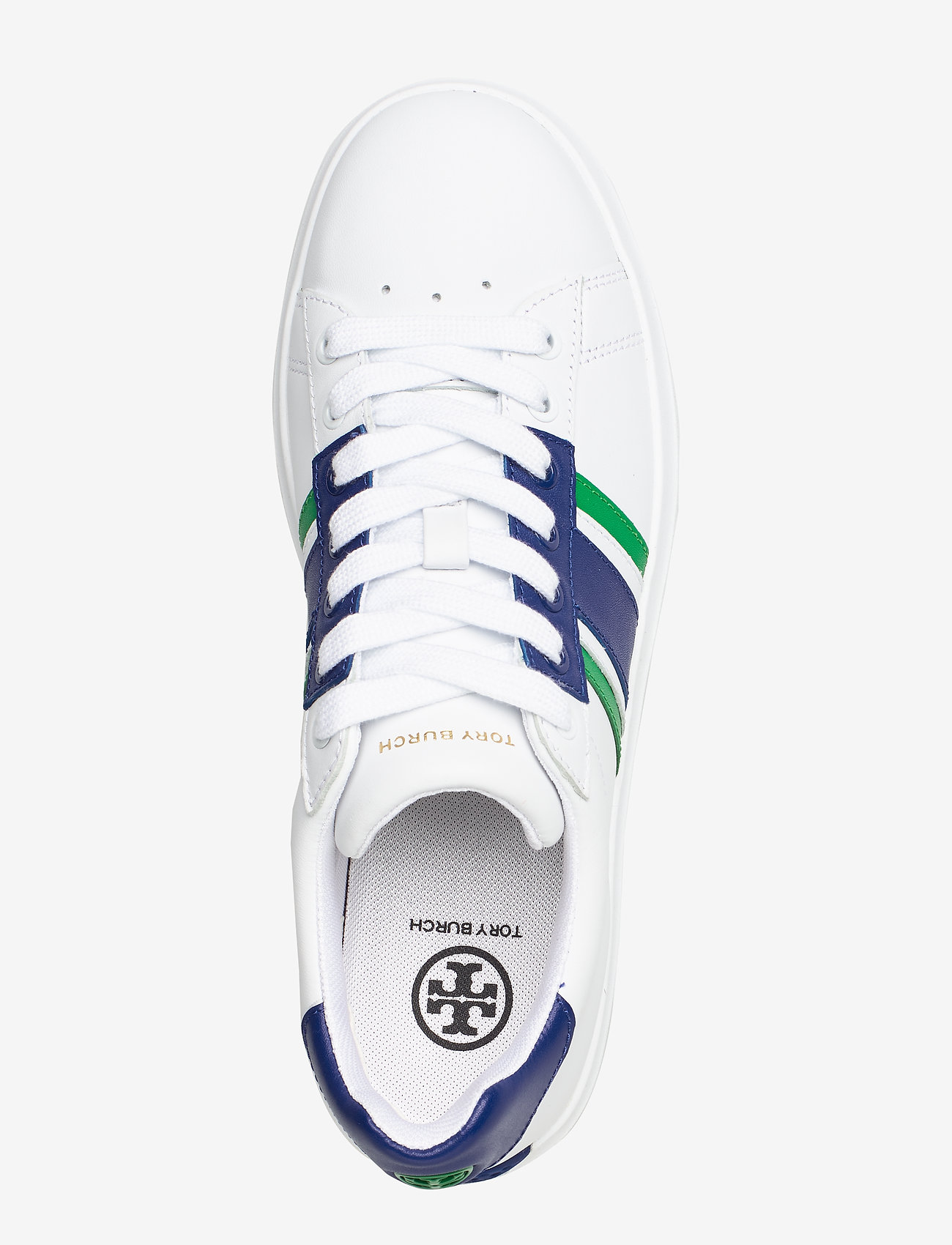 Howell T-saddle Court (Titanium White / Volley Blue / Vineyard) - Tory Burch
