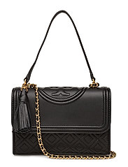 FLEMING SMALL CONVERTIBLE SHOULDER BAG - BLACK