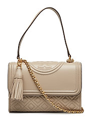 FLEMING SMALL CONVERTIBLE SHOULDER BAG - LIGHT TAUPE