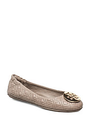 Tory Burch QUILTED MINNIE - DUST STORM / GOLD