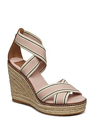 FRIEDA 100MM ESPADRILLE - BLUSH STRIPE / TAN