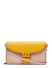 FLAT WALLET CROSS BODY - PINK SALT / DAYLILY