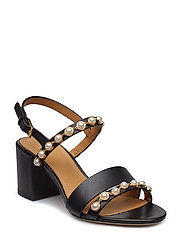 EMMY 65MM PEARL SANDAL - PERFECT BLACK