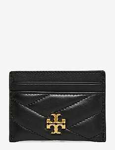 KIRA CHEVRON CARD CASE - BLACK