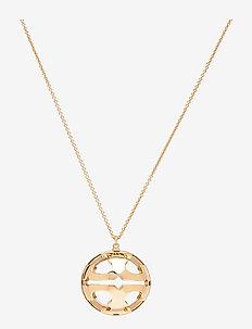 BUBBLE MILLER RESIN PENDANT - sirot kaulakorut - tory gold / clear