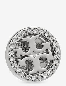 MILLER PAVE STUD EARRING BOX - Ørestikker - tory silver / crystal