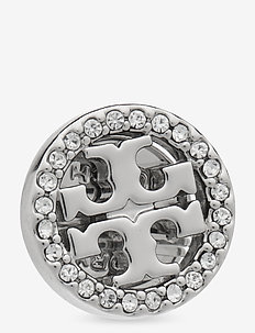 MILLER PAVE STUD EARRING BOX - nappikorvakorut - tory silver / crystal