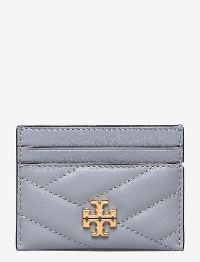 KIRA CHEVRON CARD CASE - korttikotelot - cloud blue / rolled brass