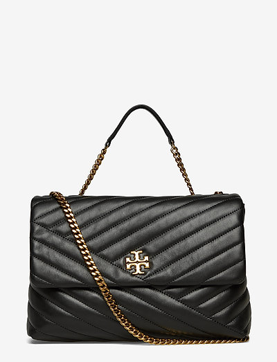 KIRA CHEVRON CONVERTIBLE SHOULDER BAG - väskor - black