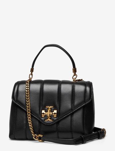 KIRA SMALL TOP-HANDLE SATCHEL - väskor - black