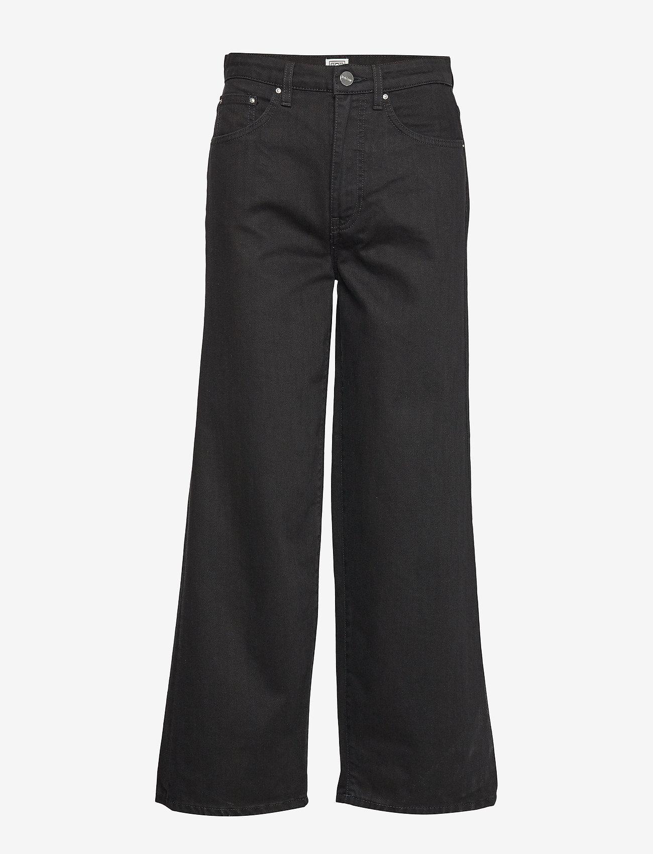 Totême - FLAIR DENIM - broeken met wijde pijpen - black rinse 290 - 0