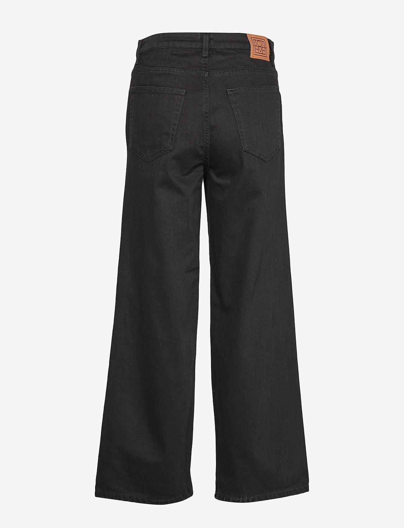 Totême - FLAIR DENIM - broeken met wijde pijpen - black rinse 290 - 1