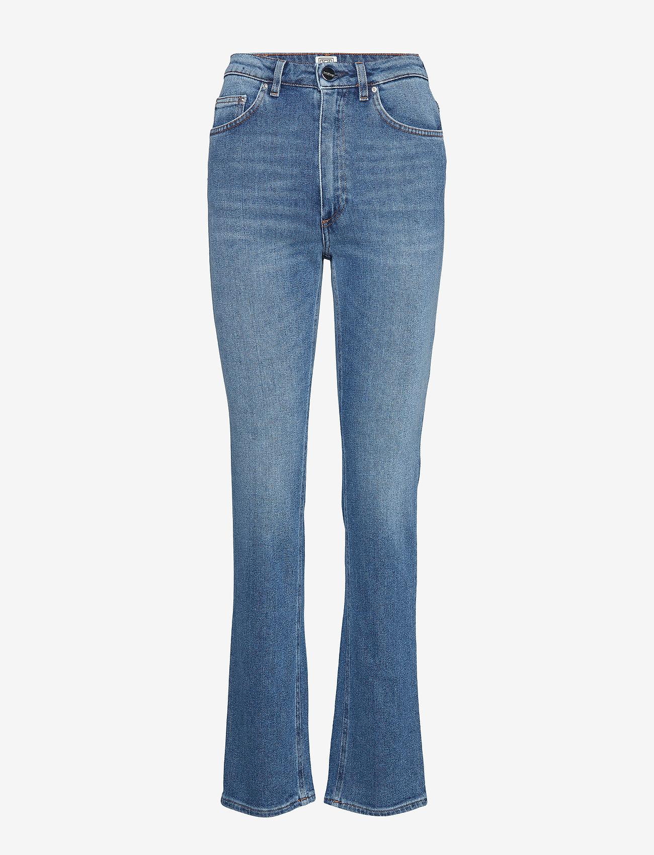 Totême - STANDARD DENIM - straight jeans - mid blue wash 410 - 0