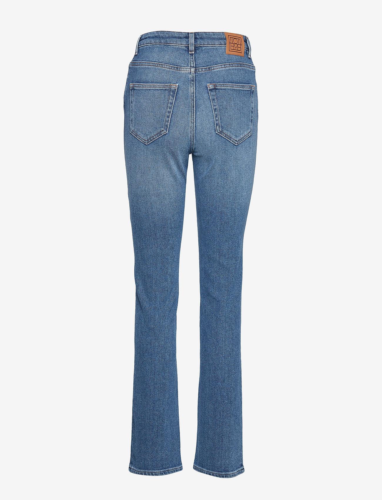Totême - STANDARD DENIM - straight jeans - mid blue wash 410 - 1