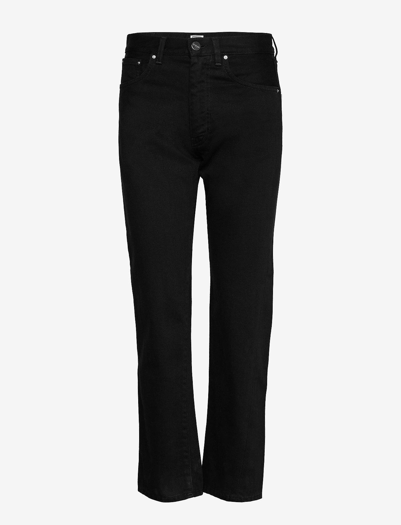 Totême - ORIGINAL DENIM - straight jeans - black rinse 290 - 0