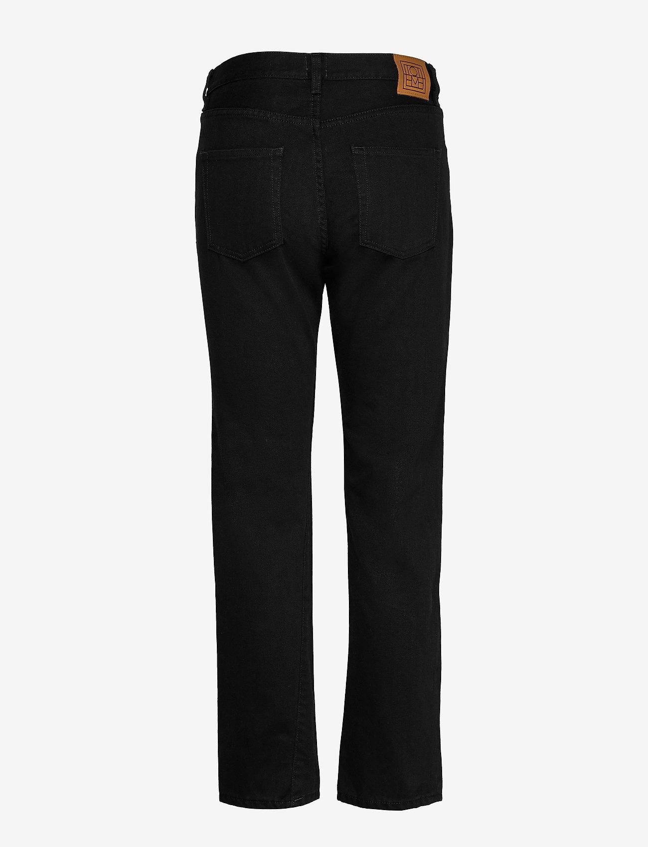 Totême - ORIGINAL DENIM - straight jeans - black rinse 290 - 1