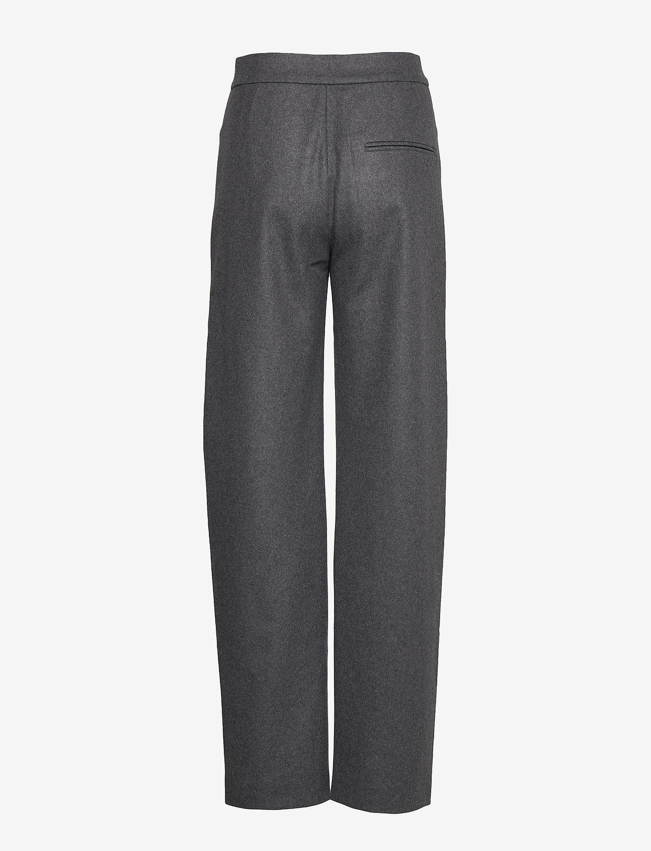 Totême NOVARA LONG - Spodnie DARK GREY MELANGE 397 - Kobiety Odzież.