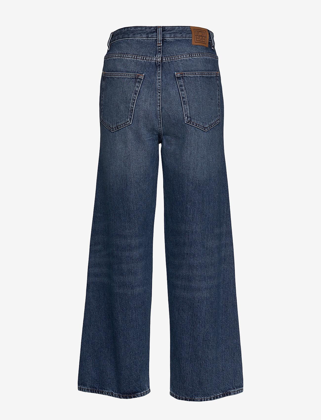 Totême - FLAIR DENIM - szerokie dżinsy - washed blue 405 - 1