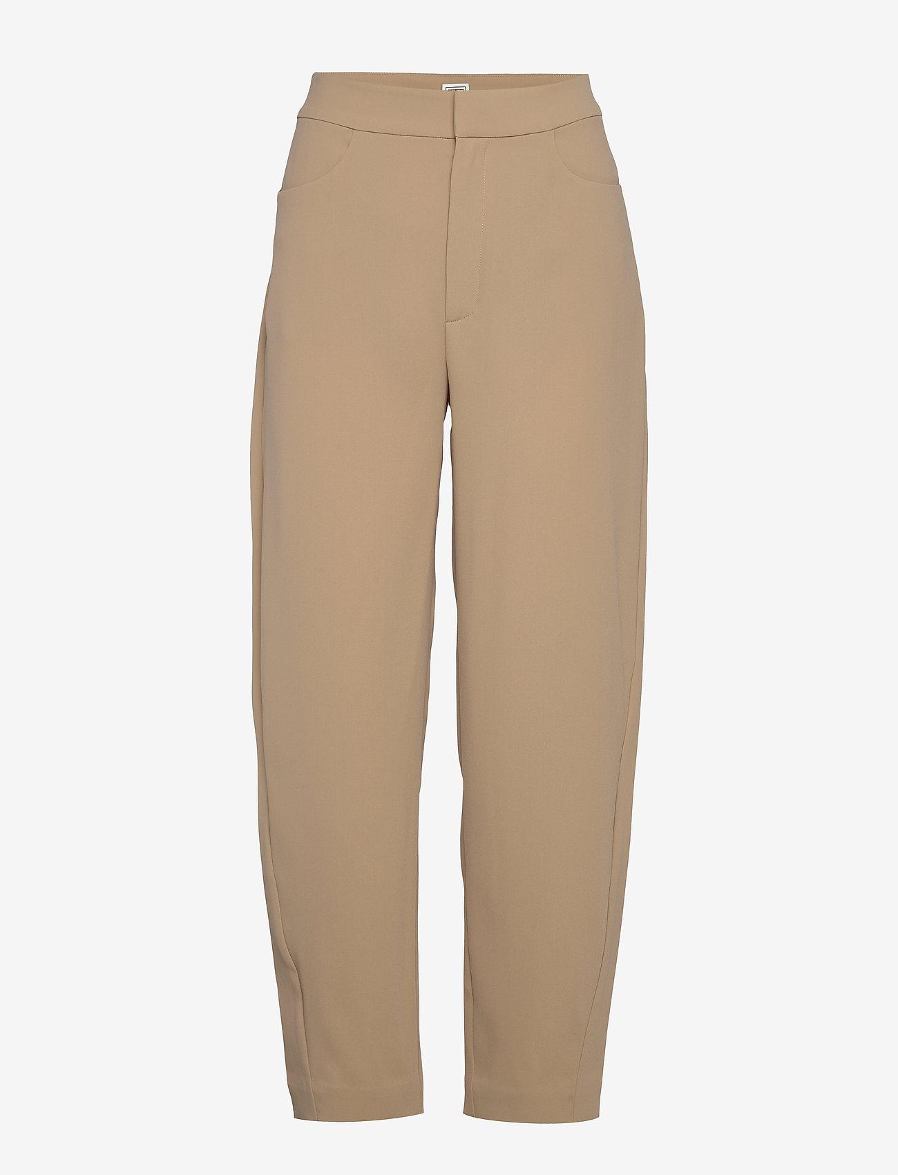 Totême - NOVARA - straight leg trousers - khaki crepe 850