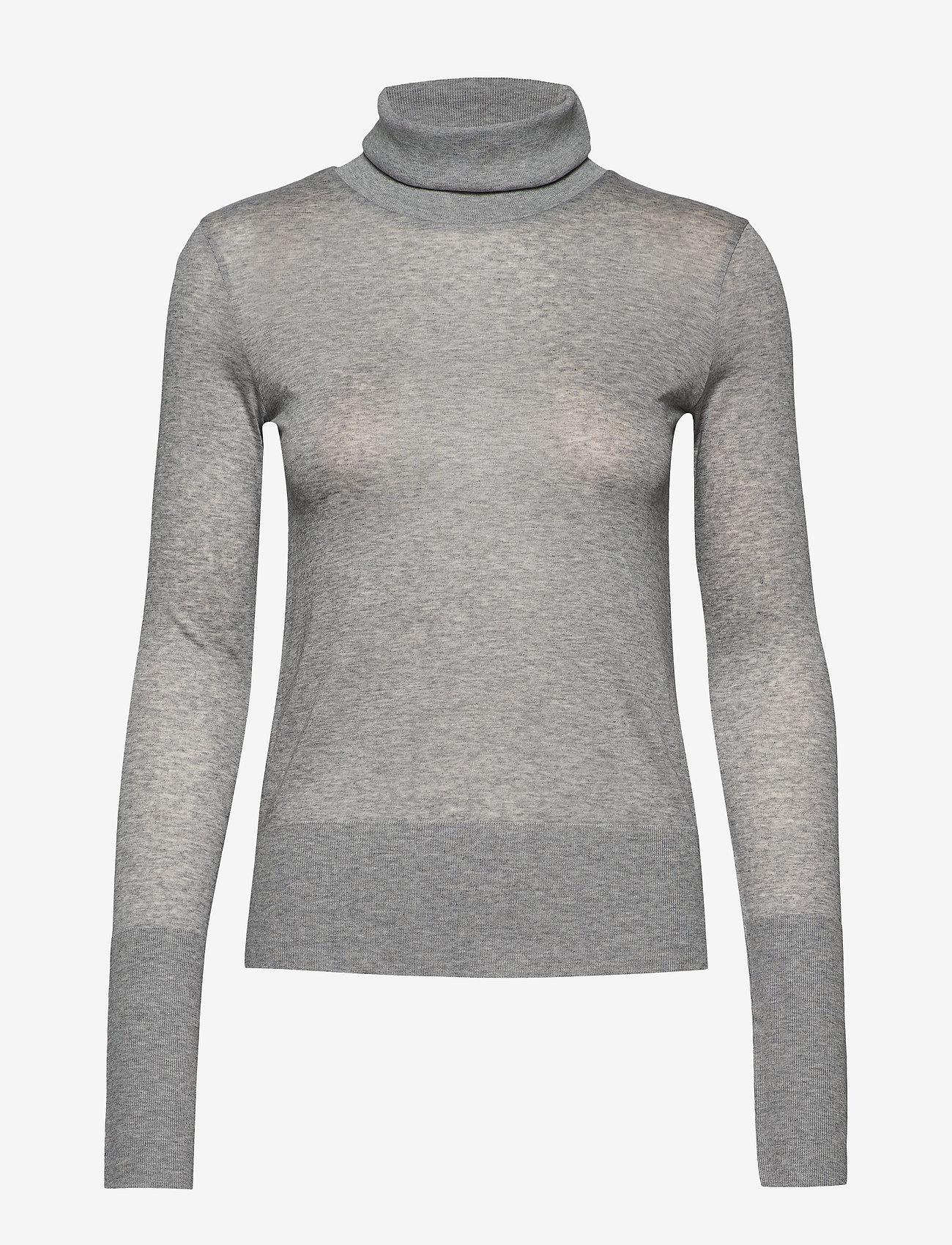 Totême - MELA - turtlenecks - grey melange 350 - 0