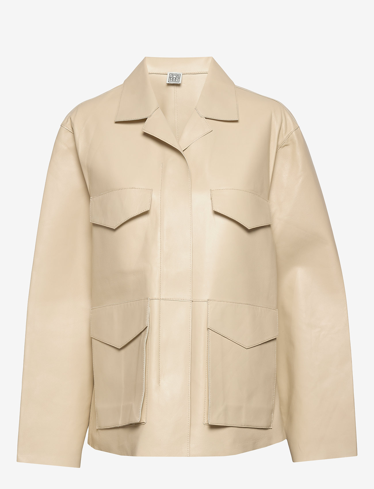 Totême - AVIGNON LEATHER JACKET - nahkatakit - ivory 160 - 0
