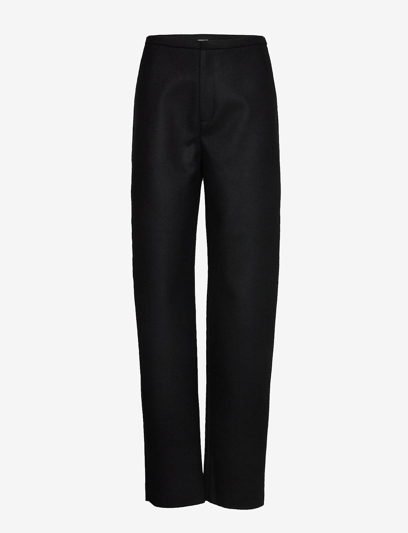 Totême - ALAIOR - bukser med lige ben - black 200 - 0