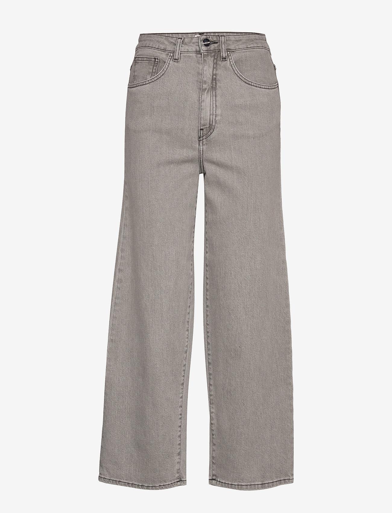 Totême - FLAIR DENIM - szerokie dżinsy - light grey wash 301 - 0