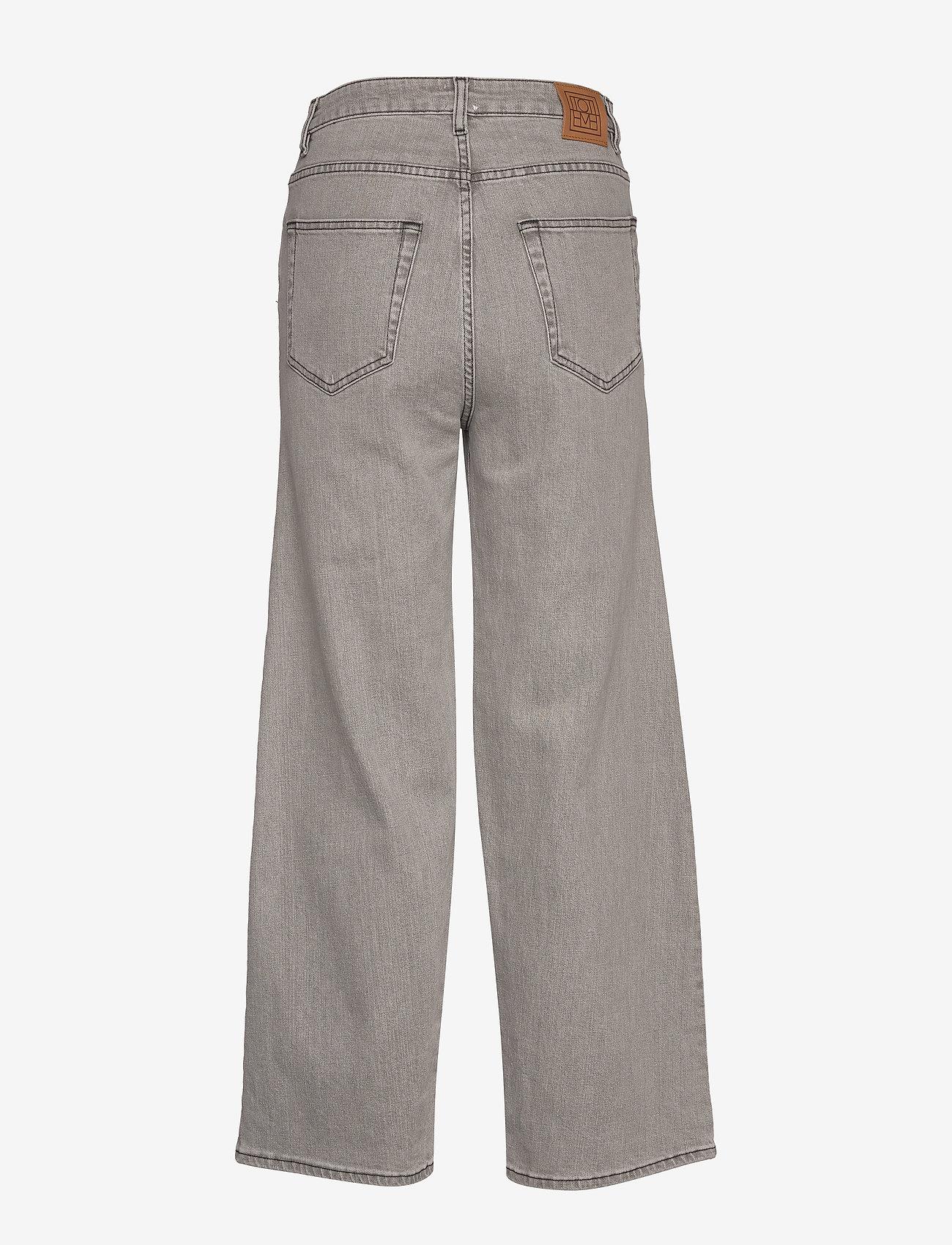 Totême - FLAIR DENIM - szerokie dżinsy - light grey wash 301 - 1