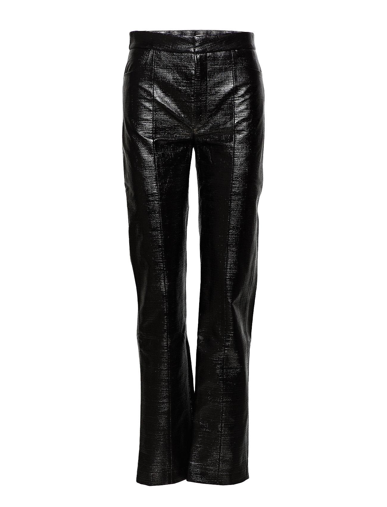 Image of Olbia Leather Leggings/Bukser Sort TOTÊME (3092618205)