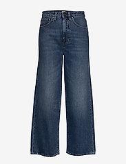 Totême - FLAIR DENIM - szerokie dżinsy - washed blue 405 - 0