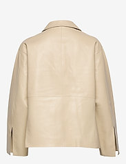 Totême - AVIGNON LEATHER JACKET - nahkatakit - ivory 160 - 1