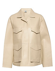 AVIGNON LEATHER JACKET - IVORY 160
