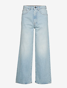 FLAIR DENIM 32 - brede jeans - light blue wash 425