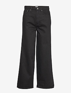 FLAIR DENIM - brede jeans - black rinse 290