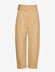 LOMBARDY - straight leg trousers - beige 817