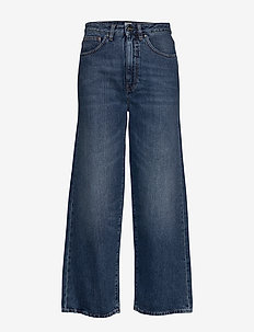 FLAIR DENIM - wide leg jeans - washed blue 405