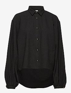 NOVALE - long-sleeved shirts - black 200