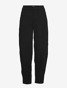NOVARA - rette bukser - black crepe 200