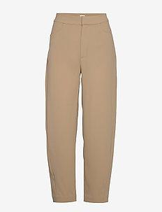 NOVARA - spodnie proste - khaki crepe 850