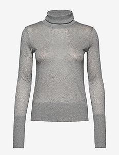 MELA - turtlenecks - grey melange 350