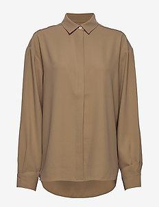 LAGO - overhemden met lange mouwen - khaki crepe 850