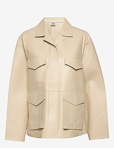 AVIGNON LEATHER JACKET - nahkatakit - ivory 160