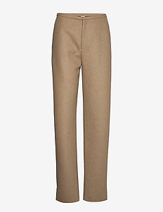 ALAIOR - straight leg trousers - beige melange 819
