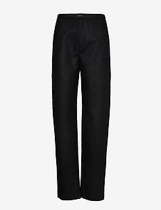 ALAIOR - bukser med lige ben - black 200