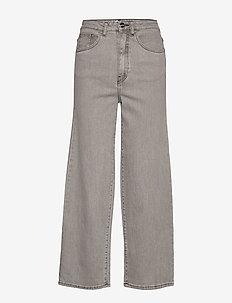 FLAIR DENIM - szerokie dżinsy - light grey wash 301